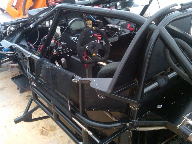 View of the naked cockpit - Riley chassis TA car circa 2010