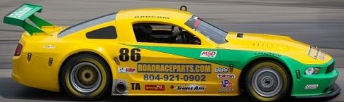 John Baucom In the Roadracparts.com Mustang