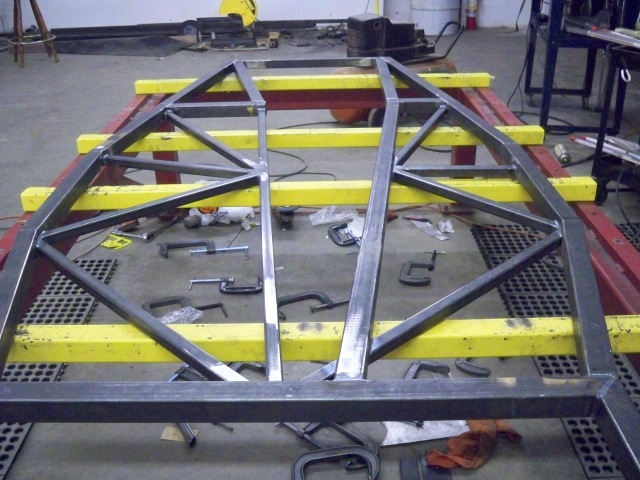 Bottom section of frame completed.
