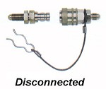 Aeroquip aluminum quick disconnect  Available in -3 and -4