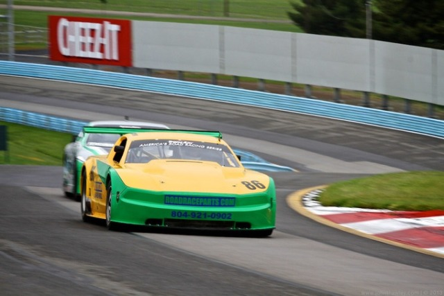 John's Mustang on its way to a strong 4th at Watkins Glen.